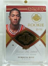 Derrick Rose 2008-09 UD Exquisite Upper Deck Gold Base Rookie RC 22/25 Non Auto