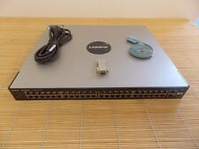Cisco Linksys SFE2010 48x 10/100 Ethernet 2x 10/100/1000 2x mini GBIC Switch