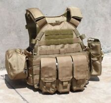 Tactical Military Hunting Protective TMC 6094 style Plate Carrier w 3 pouches CB