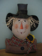 PATTERN~ EXTREME PRIMITIVE HARVEST/HALLOWEEN SCARECROW SHELF SITTER DOLL ORNIES