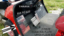 YAMAHA g14-g16-g20-g22 golf cart Diamond Plate 2 pc upper floor/cowl plates
