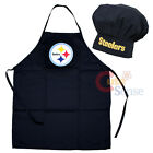 Pittsburgh Steelers Chefs Cooking BBQ Apron Chef Hat 2pc NFL Mens Gift Set