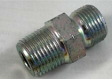 """3/8"""" BSP to NPT (No Washer) Male to Male Hydraulic Fitting"""