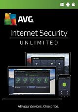 AVG INTERNET SECURITY 2017 - 2 years - UNLIMITED number of devices - DOWNLOAD