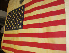 VINTAGE AMERICAN FLAG PREMIER USA COTTON BUNTING 50 STAR ANNIN CO 35X57 EAGLE
