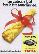 PUBLICITE ADVERTISING 114 1979 TEFAL Crêpe-party
