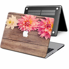 "Wood Painted Rubberized Hard Case Cover For New Macbook Pro Air 11"" 13"" 15 Touch"