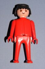 Playmobil 1974 Red Klicky Man Classic Style Black Hair Red Clothes 33 Playsets