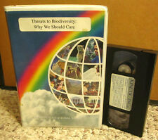 THREATS TO BIODIVERSITY documentary global warming VHS overpopulation 1997 fish