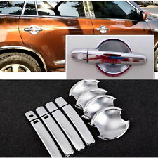 Non-Rusty Chrome Door Handle Bowl Cover Cup Overlay Trim For Toyota RAV4 2009-13