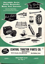 1962 CATALOG Central TRACTOR PARTS New Used TOOLS Etc. Des Moines Iowa FARMING