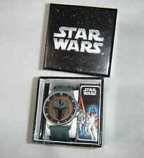 Star Wars Boba Feet Lucasfilm Silver Watch Wristwatch NEW NIB  Christmas Gift