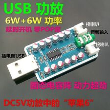 Verstärker 6W+6w  Stereo Class D Audio Digital Amplifier Board USB Power Delay