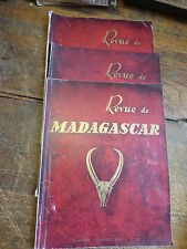 lot de 3 revue de madagascar 1952 - 1955