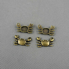2x A1345 Jewelry Making Pendant Vintage Findings Diy Charms Craft Supplies Crab