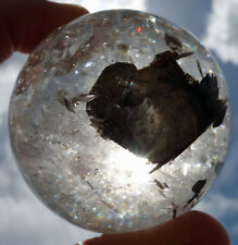 Rutiles in CLEAR QUARTZ Crystal Sphere Ball See the Natural HEART Inside