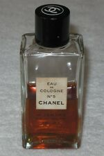 Vintage Chanel No 5 Cologne Splash Bottle 2 OZ - EDC - Sealed - 1/2 Full