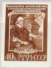 Russia Unión Soviética 1957 1940 1947 w. Harvey 300th Death Physician físico mnh