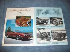"""1973 Ford Mustang Convertible Vintage Article """"Affair of the Heart"""""""