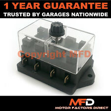 CAR MOTORCYCLE QUAD BIKE FITS 99% CARS 4 WAY UNIVERSAL STANDARD 12V FUSE BOX