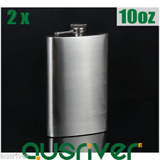 2x Brand New 10oz Stainless Steel Hip Flask Pocket Liquor Whiskey Alcohol Bottle