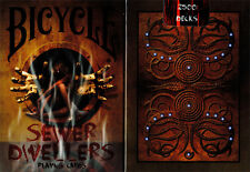 CARTE DA GIOCO BICYCLE SEWER DWELLERS,poker size, limited edition