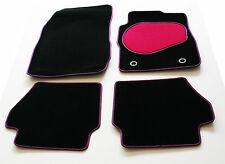 Car Mats for Toyota Yaris 3dr & 5dr 07  - Pink & Black Trim & Heel Pad