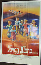 SEVEN ALONE vintage smaller one-sheet movie poster (1974)