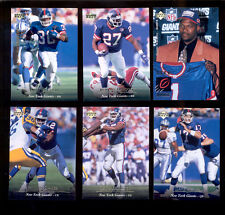 1995 UD New York Giants Set RODNEY HAMPTON DAVE MEGGETT TYRONE WHEATLEY SPARKS