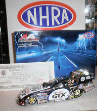 NHRA JOHN FORCE 2006 25TH ANNIVERSARY US NATIONALS CHROME SIGNED W/ COA