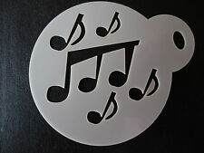 Laser cut small music notes design cake, cookie,craft & face painting stencil