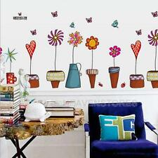 Flower Decal Vinyl Home Removable Room Mural Wall Stickers Stair Window Decor