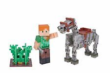 "Minecraft Series 3 ~ Alex With Skeleton Horse Pack ~ 3"" Action Figure"