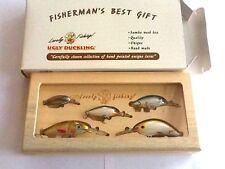 Samba Wood Fishing Tackle Gift Box,5 Hand Painted Ugly Duckling balsa lures