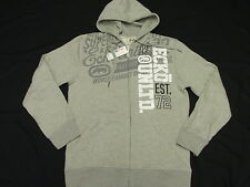 $58 NWT NEW Mens Ecko Unltd Vertical Hoodie Sweatshirt Grey Urban Size XL L419