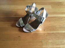 BCBG Gold Cork Wedge Sandals - Size 7 - Gorgeous