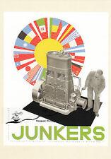 Karte: Reklameblatt Junkers Motorenbau in aller Welt, 1928 - Nachdruck!