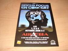 HOCUS POCUS - FLYER CONCERT PLACE 54 !!!!!!!!!!!