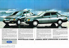 PUBLICITE ADVERTISING 065  1987  FORD    SIERRA  (2pages)