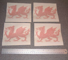 4 Welsh dragon stickers
