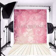 3x5ft Pink Flower Vinyl Background Backdrop Cloth Photography Photo Studio Props