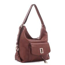 ELLE PURSE, HANDBAG -  CONCEALED CARRY GUN, CCW FAUX BROWN LEATHER w/ HOLSTER
