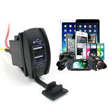 12V 24V Car Auto Boat Accessory Dual USB Charger Power Adapter Outlet Hot Sale