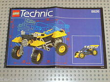 Notice Building instruction booklet LEGO TECHNIC / set 8826 ATX Sport Cycle