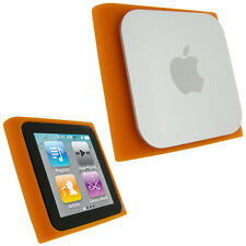 Orange Silicone Skin Case for Apple iPod Nano 6th Gen Generation 6G Cover Holder