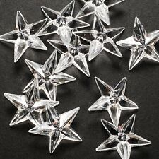 12 Clear Acrylic Stars Table Scatter Confetti Filler Wedding Party Decoration
