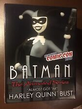 HARLEY QUINN B & W BUST from BATMAN ANIMATED SERIES, NYCC 2015 Exclusive , MIB