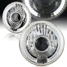 "97-16 Jeep Wrangler 7"" LED Halo WHITE Round Chrome Clear Projector Headlights"