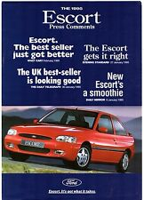 Ford Escort Mk6 Press Comments 1995 UK Market Leaflet Sales Brochure