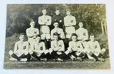Wonderful Early Real Photo Postcard Football Team having Photo Taken